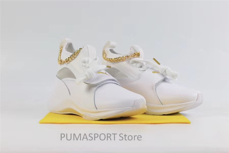 d78852dba8c 2018 New Original Selena Gomez X Puma Phenom Lux Women s White Sneakers  Suede Satin Badminton Shoes size35.5 40-in Badminton Shoes from Sports ...