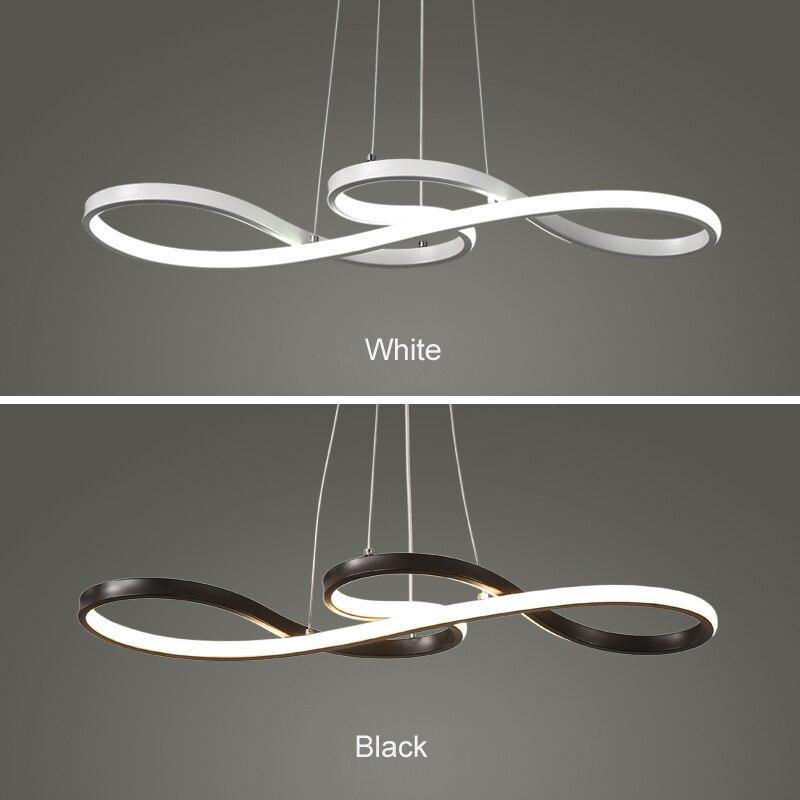Minimalizm diy wiszące nowoczesne lampy LED na zewnątrz wisiorek do jadalni wisiorek pasek lampa suspendu lampa wisząca oprawa