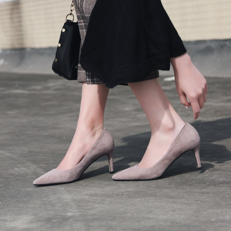 MLJUESE 2019 women pumps autumn spring Kid Suede thin heel black color pointed toe high heels lady shoes partyMLJUESE 2019 women pumps autumn spring Kid Suede thin heel black color pointed toe high heels lady shoes party
