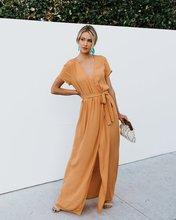 Womens Elegant Dress Explosions Fashion Hem Split Cross Multi Colors Wine Party Cotton Dresses Women