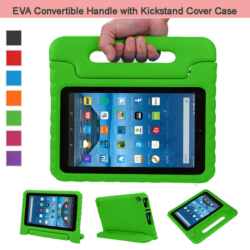 EVA Shockproof Case Light Weight Kids Case Super Protection Cover Handle Stand Case For Amazon Fire 7 2015 7 Kindle Tablet
