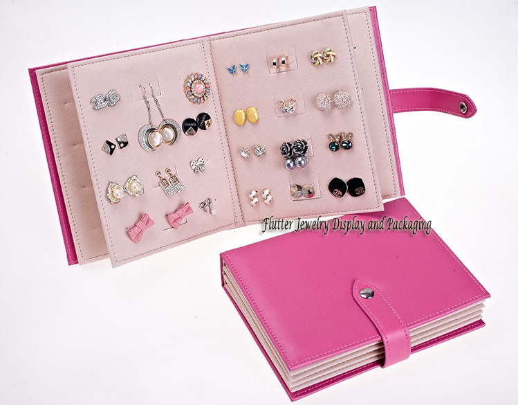 Jewelry Display Props Earring Storage Book Fashion Portable Bag Packaging Travel Case In From