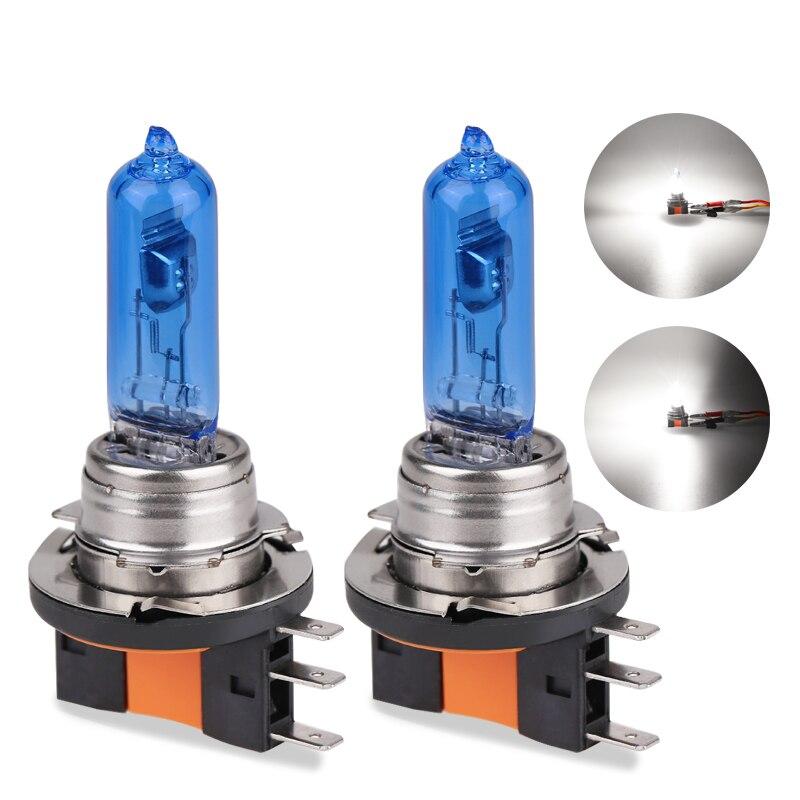 1 шт. H15 12 В 55 Вт Автомобильная головная лампа галогенная лампа автомобильная лампа-источник света супер белая 6000K головная лампа сменная лам...