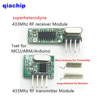1 set RF module 433 Mhz superheterodyne  For Arduino uno Diy