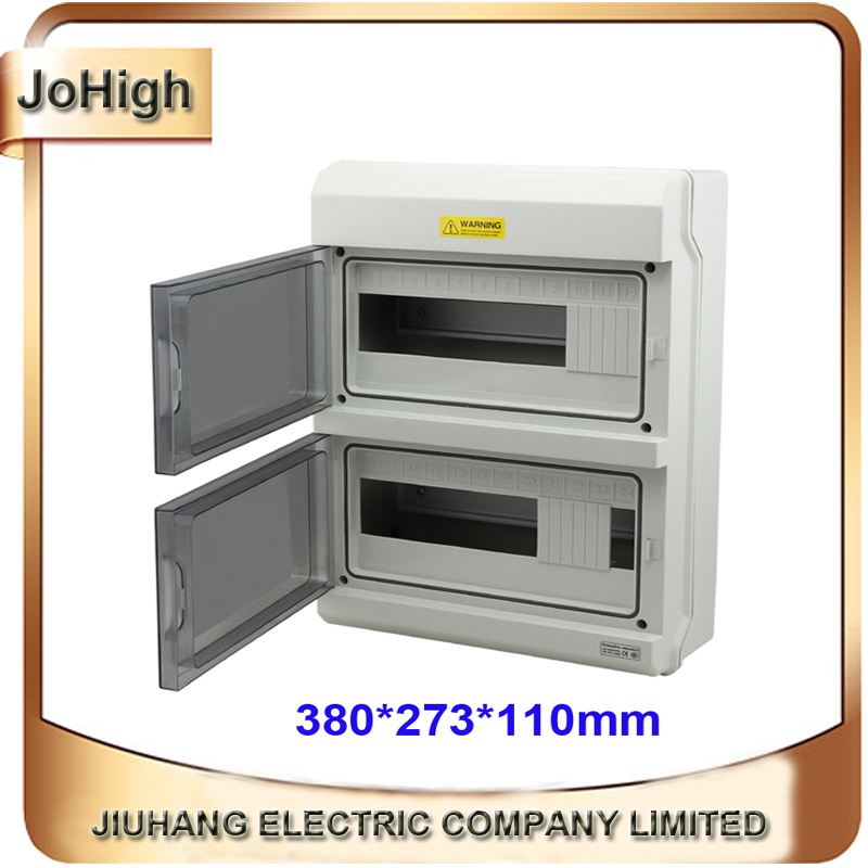 Top Quality Best PC Material IP66 Waterproof Electrical Meter Distribution Box 24 Way Distribution Enclosure high quality ip66 project box waterproof 18 ways distribution box distribution panel box 410 280 130mm