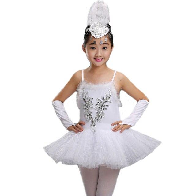 030e495cff8e Professional White Swan Lake Ballet Tutu Costume Children Ballerina ...