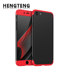 HENGTENG Phone Cases For iPhone 7 7 Plus Case Luxury 360 Full Protection Matte and Smooth Cases Cover For iPhone 6 6s Plus