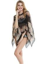 Ayliss 50*150cm Fashion Summer Print Scarf Women Beach Chiffon Shawl Cover Up Sarong Sunscreen Print Design Scarves stylish tribal print chiffon cover up sarong for women