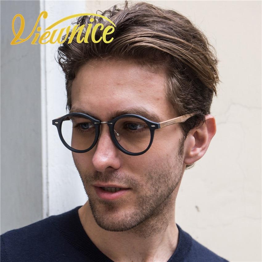 2018Lunettes de vue vintage სათვალეები ჩარჩო მამაკაცები გამჭვირვალე ანტისხეულის მსუბუქი ლინზები ქალთა სათვალე ხის მარცვლეულის ჩარჩო შავი ბრენდი