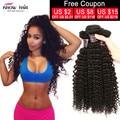 Хорошее Качество 7А Необработанные Бразильский Kinky Вьющиеся Девы Человеческих Волос 3 Связки Weave Топ Продаж Реми Вьющиеся Волосы Курчавые