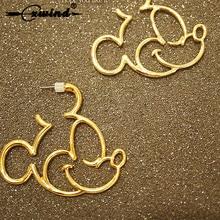 Cxwind New Cute Cartoon Mickey Design Stud Earrings For Women Girl  Kids Geometric Animal Angel Heart Rabbit Earring Brincos