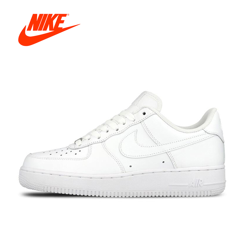 Original New Arrival Official Nike AIR FORCE 1 AF1 Mens Breathable Skateboarding Shoes Platform Sneakers nike air force 1 mid женские