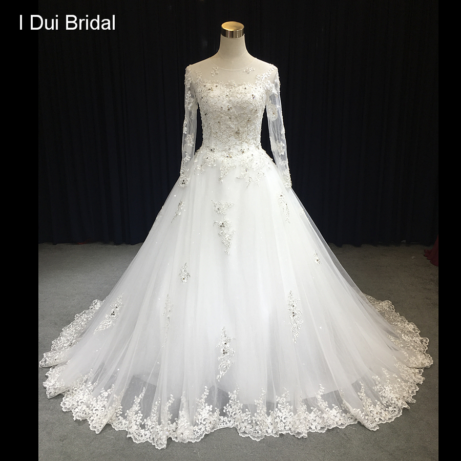 Illusion Neckline Wedding Gown: Aliexpress.com : Buy Sheer Sleeve Silver Lace Wedding