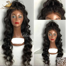 Unprocessed Human Hair Virgin Brazilian Human Hair Curly Lace Front Wig With Baby Hair 130 Density Loose Curly Front Lace Wigs