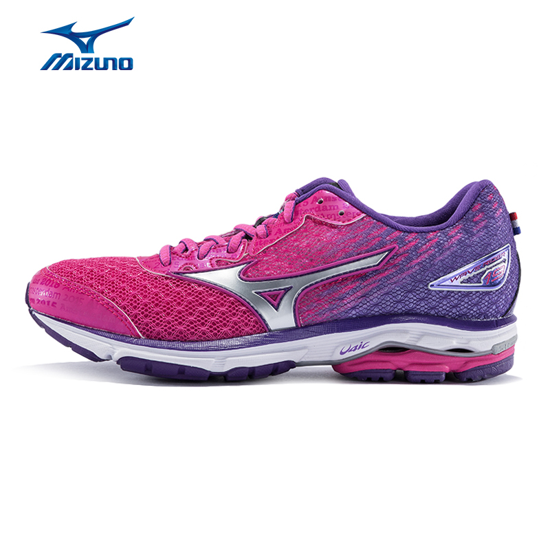 Mizuno Women's WAVE RIDER 19(W) Breathable Cushioning Light Jogging Running Shoes Sneakers Sports Shoes J1GD165203 XYP389 цена
