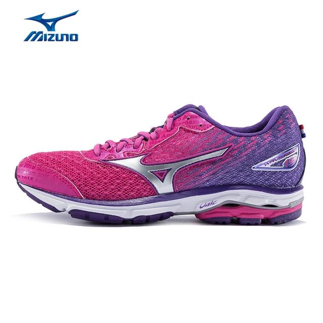 Mizuno wanita GELOMBANG RIDER 19 (W) Bantalan Bernapas Cahaya Sepatu Lari  Sepatu Olahraga Sepatu ad77eebe3a