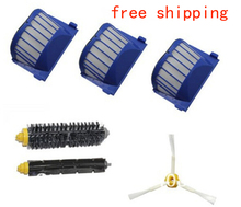 3 Aero Vac hepa filter+Brush kit for iRobot Roomba 600 Series 620 630 650 660 etc robot vacuum cleaner replacement parts