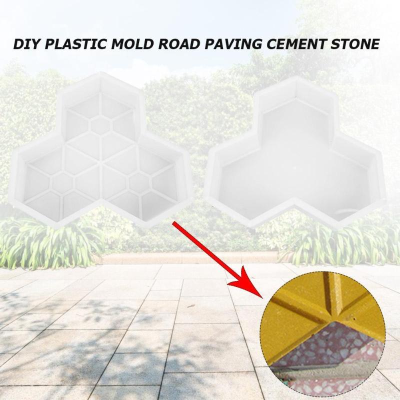cheapest Garden Plastic Path Maker Mold DIY Manually Paving Reusable Cement Brick Stone Road Concrete Molds Garden Walk Pavement Mould