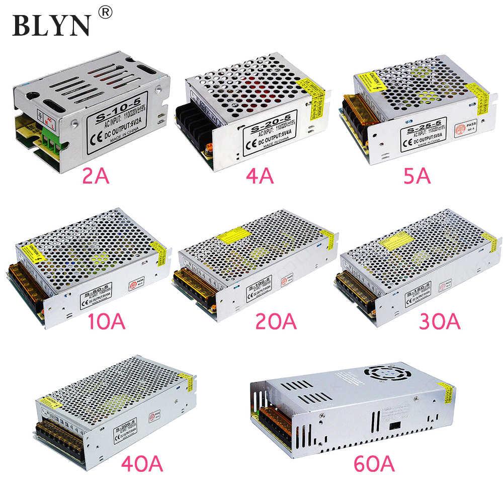 AC110 ~ 220V DC 5V 12V 24V zasilacz LED konwersji przejściówka 1A 2A 3A 5A 10A 15A 20A 30A 50A źródło zasilania transformatora