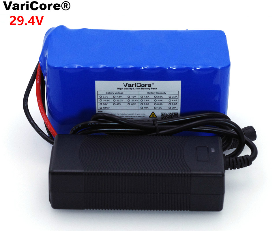 VariCore 24V 6Ah 7S3P 18650 Battery 29 4 v 6000mAh BMS Electric Bicycle Moped Electric Li