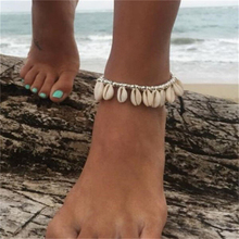 New Handmade Natural Seashell Bracelet Bohemia Crystal Beads Charm Bracelets Anklet for Woman Girls Daily Jewelry Accessories