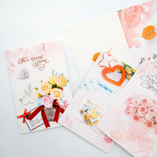 10Pcs/lot 7*10.4CM Cute flowers blessing small greeting card Birthday Wedding New Year Gift Cards