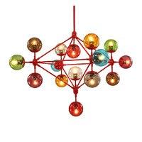2015 Creative Colorful DNA Molecule Design Plated Pendant Light Modern Simple Led Magic Beans Pendant Light