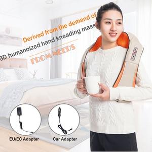 Image 5 - Masajeador eléctrico para espalda, hombros, cuello, infrarrojos, masaje caliente, coche/hogar, chal multifuncional
