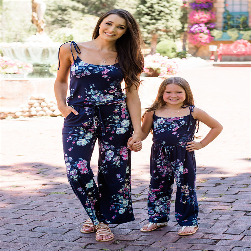Mother And Daughter Clothes Floral Print Mommy And Me Clothes Summer Family Matching Clothes Family Look Mom Daughter Clothes