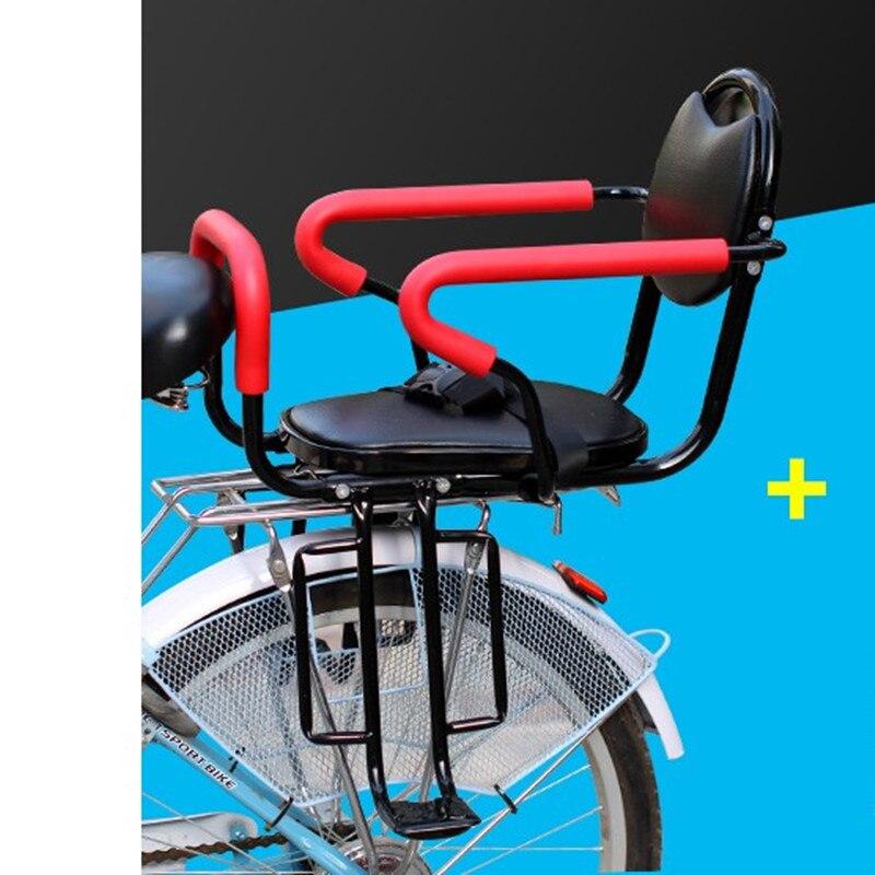 Vélo arrière enfant siège bébé sécurité siège usage général enfant batterie électrique VTT vélo siège arrière