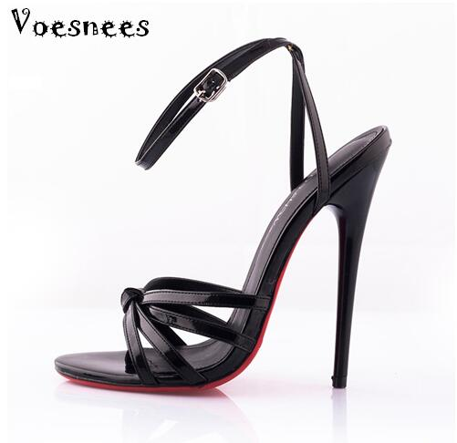 Model Catwalk Shoes 2017 Fashion Plus Size 36-44 Summer Sexy Ultra-high Heels 14CM Fine With Patent Leather Fun Shoes europe and super high heels 14cm fashion shoes waterproof fish head sexy nightclub fine with plaid shoes