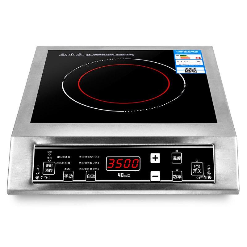 3500 W de acero inoxidable Cocina de Inducción de cristal negro Panel cita impermeable inteligente temperatura de regulación