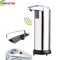 400ml Automatic Sensor Soap Dispenser Stainless Steel Built In Infrared Smart Sensor Touchless Sanitizer For Kitchen