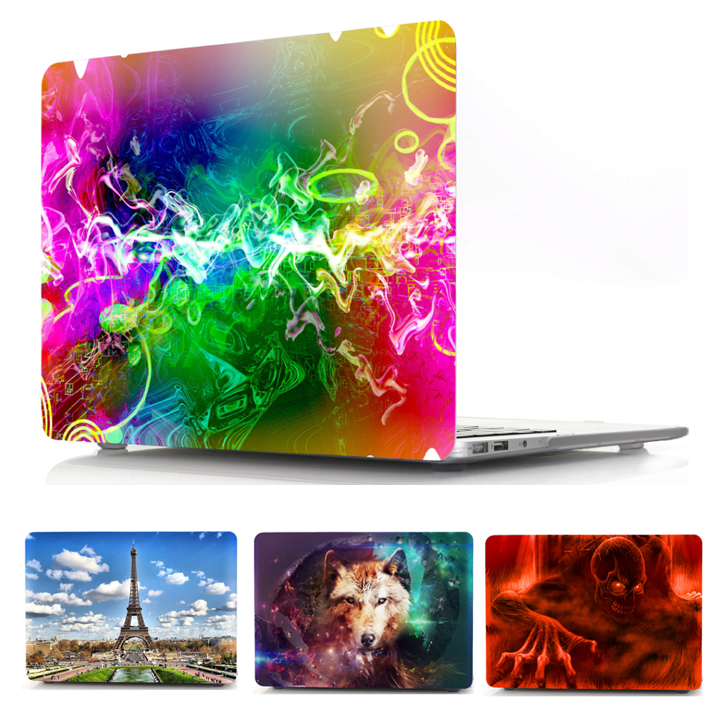 Print Hard Cover Sleeve Case For Apple Mac Macbook Pro Retina 13.3 12 15.4 Air 13 11 New touch bar 13.3