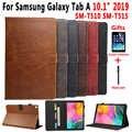 Premium Custodia In Pelle per Samsung Galaxy Tab 10.1 2019 SM-T510 SM-T515 T510 T515 Caso Del Basamento Della Copertura per Samsung Tab UN 10.1 2019