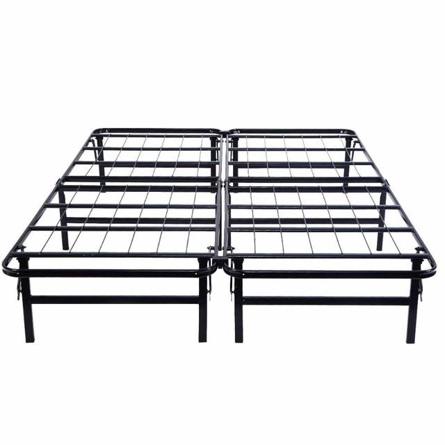 goplus queen size platform metalen bed frame matras foundation