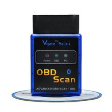 Latest Version MINI Bluetooth ELM 327 Vgate OBD2 / OBDII Scan Tool ELM327 V2.1 Diagnostic interface