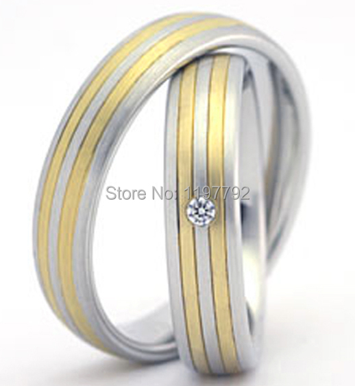 high end tailor made classic gold colour multi Colored Engagement wedding Rings sets for couples цена