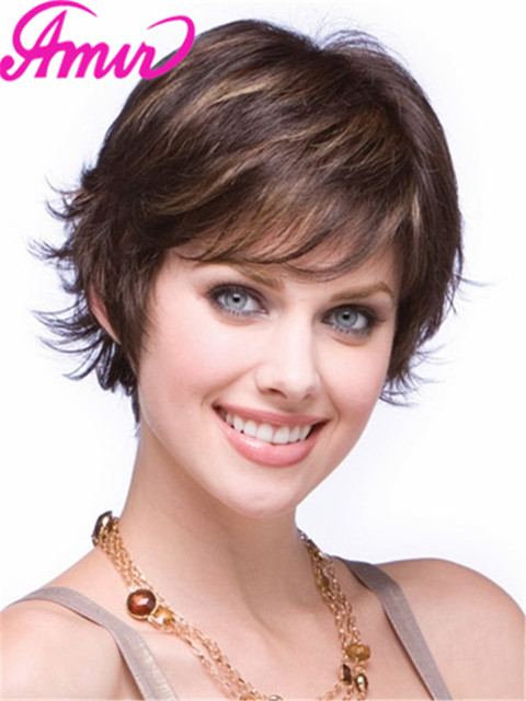 Fashion New Womens Stylish Womens Cut Hairstyle Synthetic Wigs Short