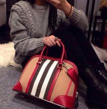 2016 fashion brand designer women handbag canvas lattice fringe shoulder bag plaid ladies shell bag messenger bolsas femininas