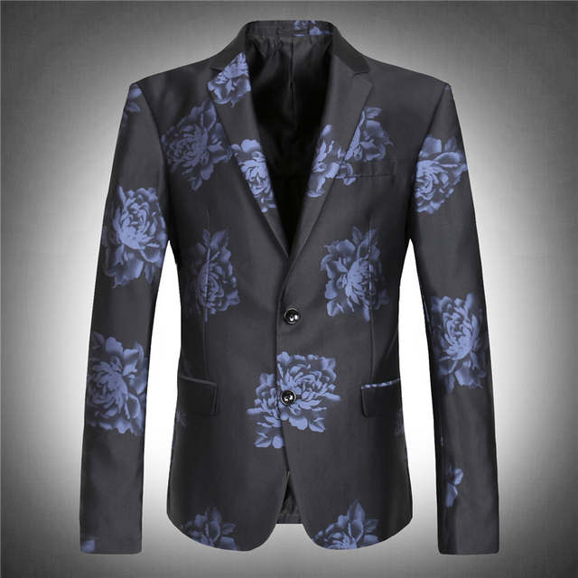 men s wedding blazer high quality obese flower extra large super big suit  jacket autumn plus size 959d876a5be8