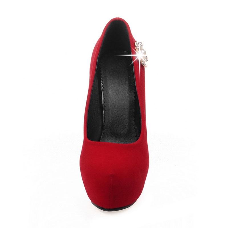 Rosso Ultra rosso Della Alto Alti Stiletto Nero Strass Club Scarpe Delle bianco Dello Glitter Feiyitu Il Da Piattaforma Nero Signore Di Talloni Sposa Donne Tacco w7Aacpq