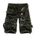 Hombres Pantalones Cortos de Algodón Militar Del Ejército Cargo Shorts hombres Shorts Homme Pantalones Casuales Más El Tamaño 38 2017 Nueva Marca de Moda ropa