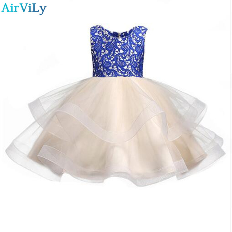 цены 2018 New Baby Girls Clothes For Summer Dress Children Clothing For Girls Party Lace Princess Dresses Vestidos Costume Kids Dress