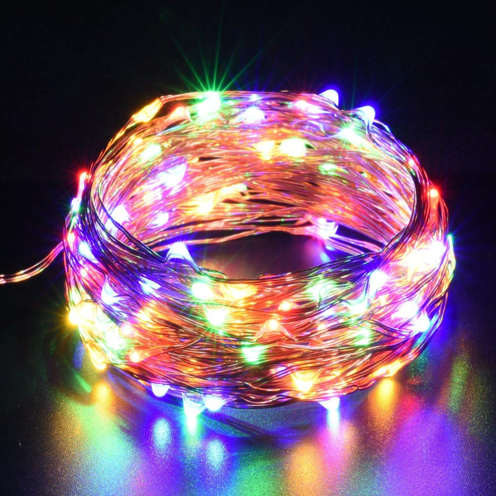 Led Strip light <font><b>DC5V</b></font> AA Battery CR2032 <font><b>USB</b></font> Powered 10m String Lights Holiday Ligting Christmas New Year Party Wedding Decoration image