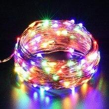 Led şerit ışık DC5V AA pil CR2032 USB Powered 10m dize işıklar tatil aydınlatma noel yeni yıl partisi düğün dekorasyon