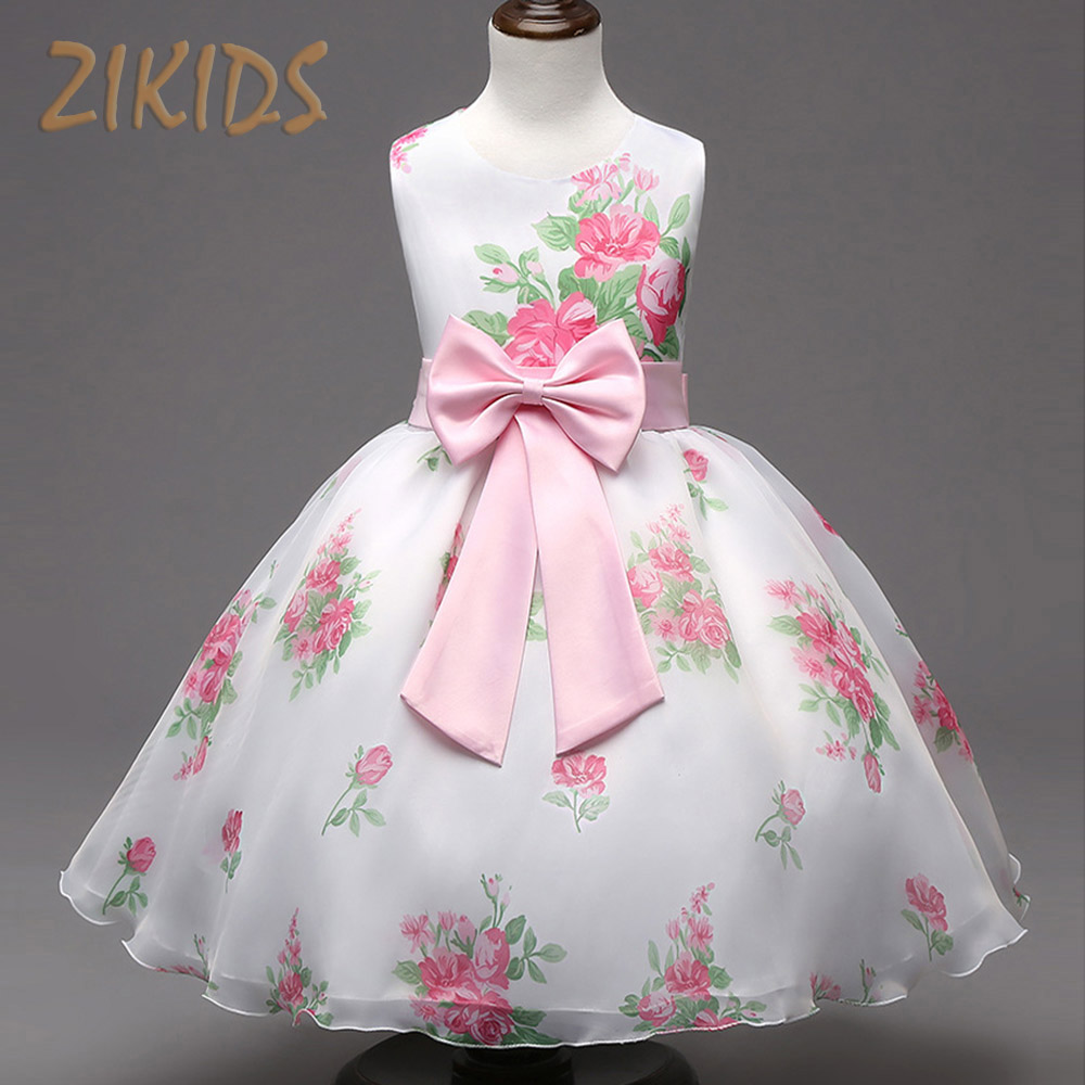 Girl dress casual flowers girls dresses for pageant for Wedding dress for kid girl
