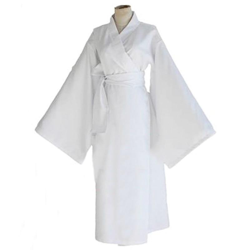 Anime Cosplay for Snow Miku from ARAGOTO Japanese Vestidos Costume for Men White Bathrobe and Kimono in Halloween Carnival Party