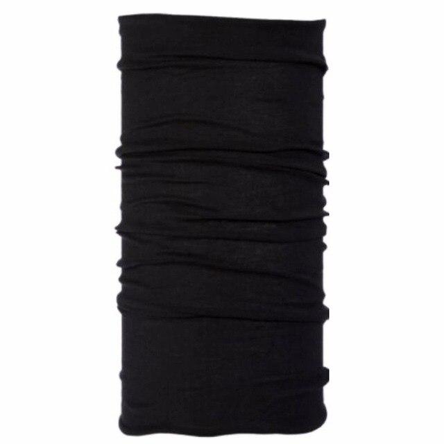 Écharpe de guêtre en laine mérinos noire