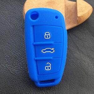 Image 3 - Dewtreetali samochodowy brelok składany pilot zdalnego sterowania pokrywa silikonowa przypadku samochodu stylizacji dla Audi A1 A2 A3 A4 A5 A6 A7 TT Q5 Q7 R8 S6